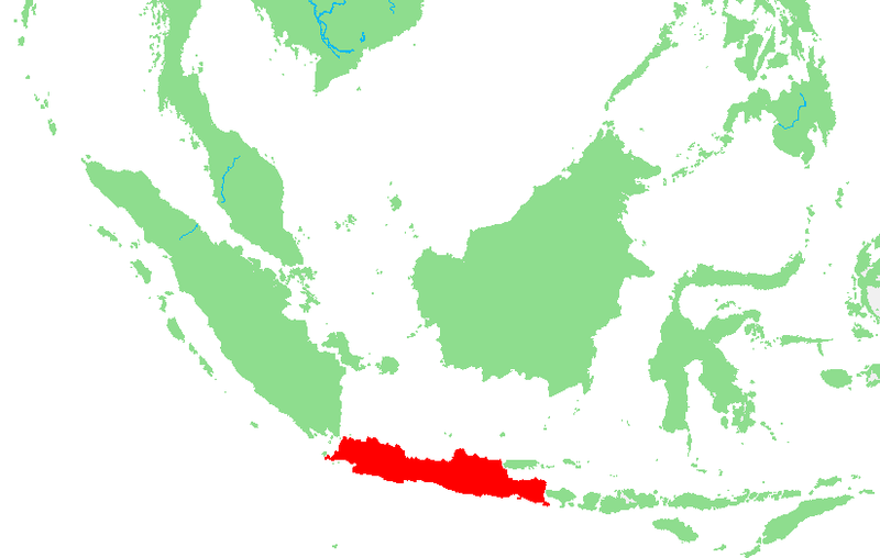 Kaart van Java Indonesië