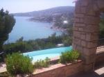 prachtige zicht langs de Middellandse Zee