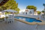Zwembad met villa