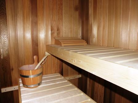 De heerlijke sauna