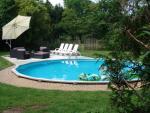 Zwembad bij de vakantiewoning