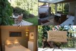 Het terras, veranda en 2 pers slaapkamer