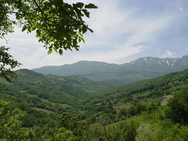 Uitzicht op de Apennijnen