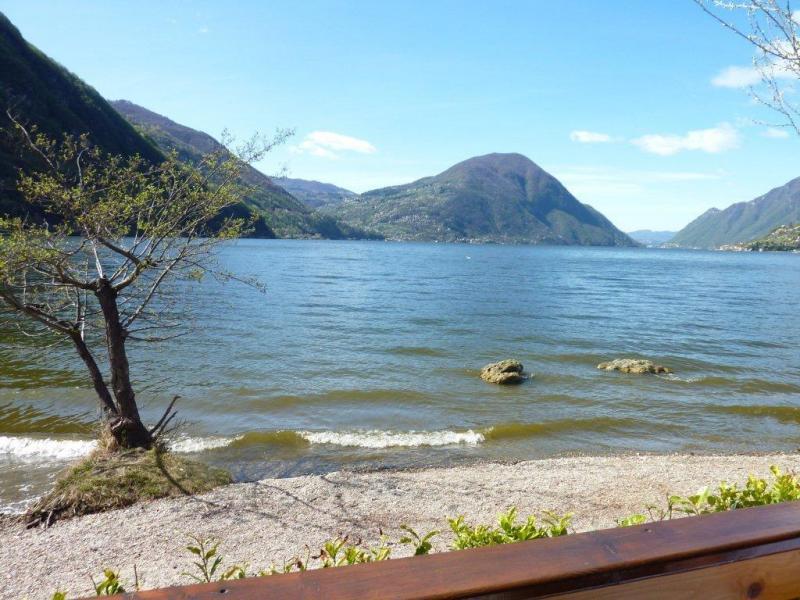 Het strandje aan het meer van Lugano