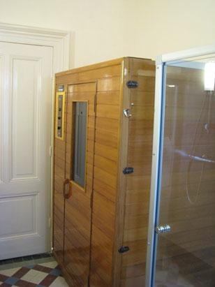sauna bij kamer 1